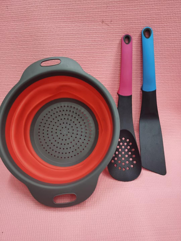 洗菜(三件套)可折叠洗菜篮沥水篮洗水果易收纳圆形蔬菜篮子